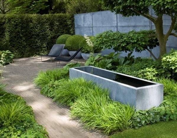 Waterelement waterlement in tuin van zink origineel waterelement - Deco van de tuin ...