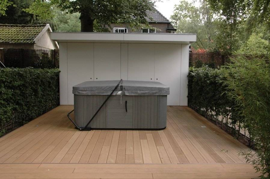 Top Jacuzzi in tuinontwerp grote tuin lounge tuin met jacuzzi luxe &QP24