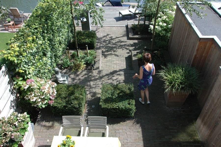 tuin met hoogteverschil