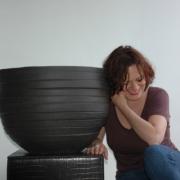 wintervaste potten van terracotta