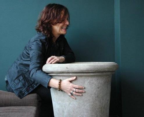 Grote terracotta potten