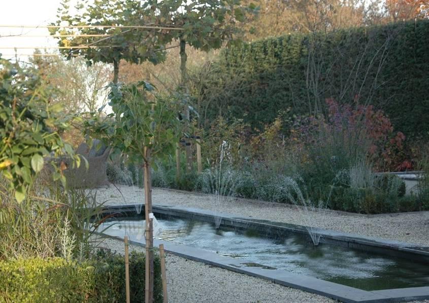 Tuin in landelijke stijl