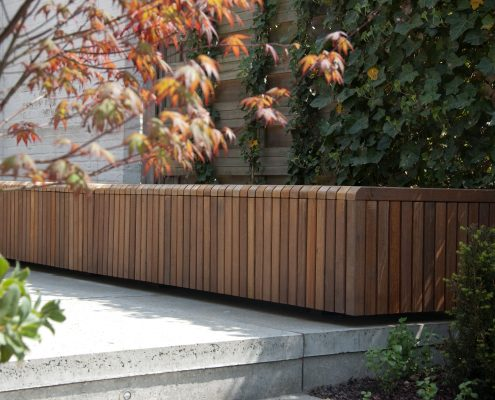 houten tuinbank