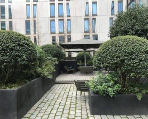 Moderne binnentuin ontwerpen
