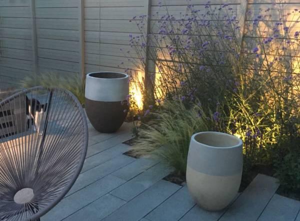 verlichting in kleine tuin