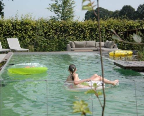 aanleg zwemvijver