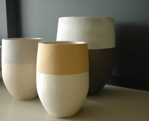 Terracotta potten van klei